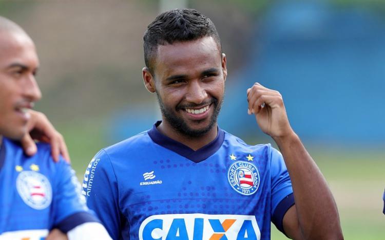 Meia afirmou estar pronto para ir a campo mesmo fora do ritmo ideal - Foto: Felipe Oliveira | EC Bahia
