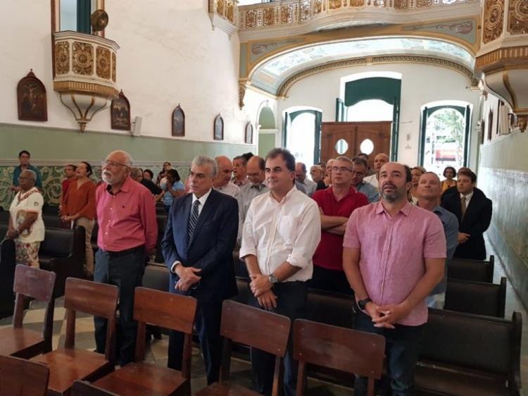 Missa contou com a presença de muitas personalidades marcantes da longa história Rubro-Negra - Foto: ASCOM | EC Vitória