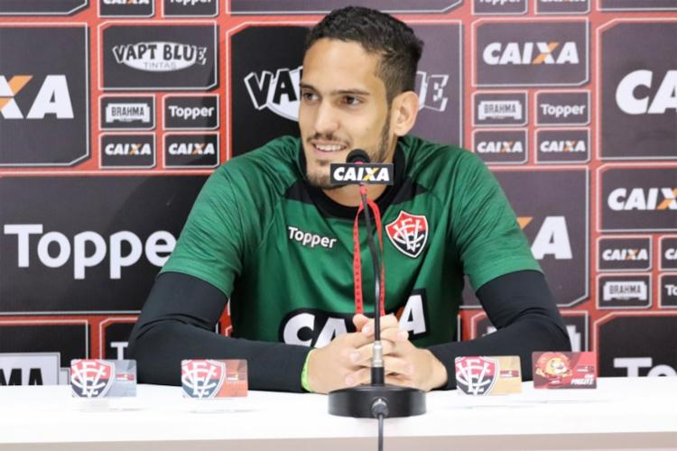 Goleiro atuou na meta do Leão pela primeira vez na Série B - Foto: Maurícia da Matta | EC Vitória