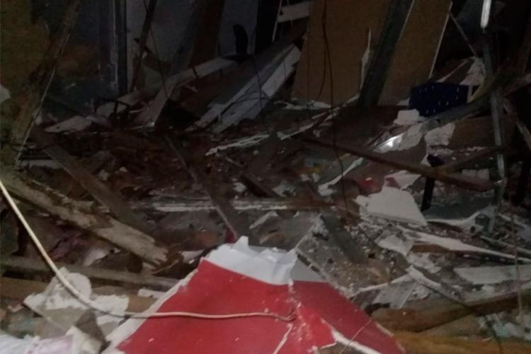 Agência bancária ficou completamente destruída após explosão - Foto: Reprodução | Moura Notícias