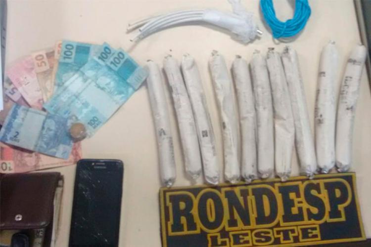 Material foi apreendido com suspeitos - Foto: Divulgação | SSP-BA