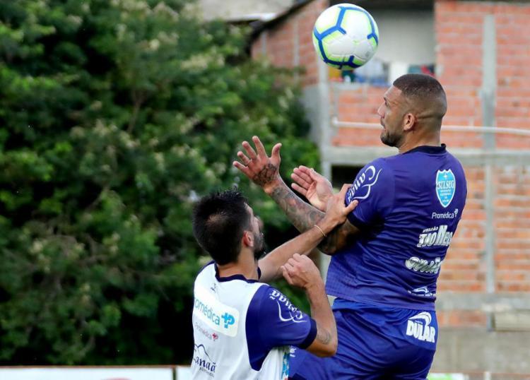 Os jogadores reservas participaram de um coletivo com a equipe de transição - Foto: Felipe Oliveira | EC Bahia