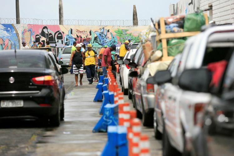 Motoristas aguardam até 1h30 no terminal de São Joaquim - Foto: Joá Souza | Ag. A TARDE