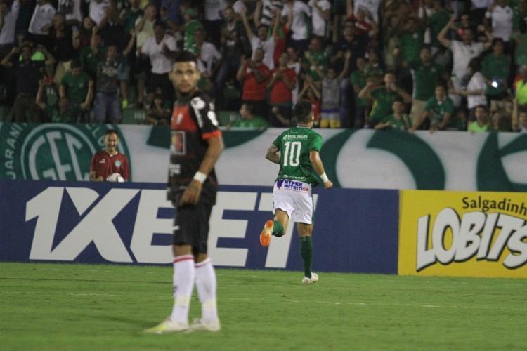 Com o triunfo sobre o Vitória, o Guarani subiu para a décima posição, com quatro pontos - Foto: Luciano Claudino   Estadão Conteúdo