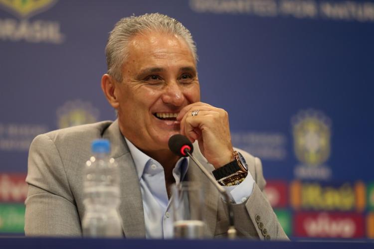 Tite insistiu que a meta, para ele, é o Brasil apresentar boa performance em campo - Foto: Lucas Figueiredo | CBF