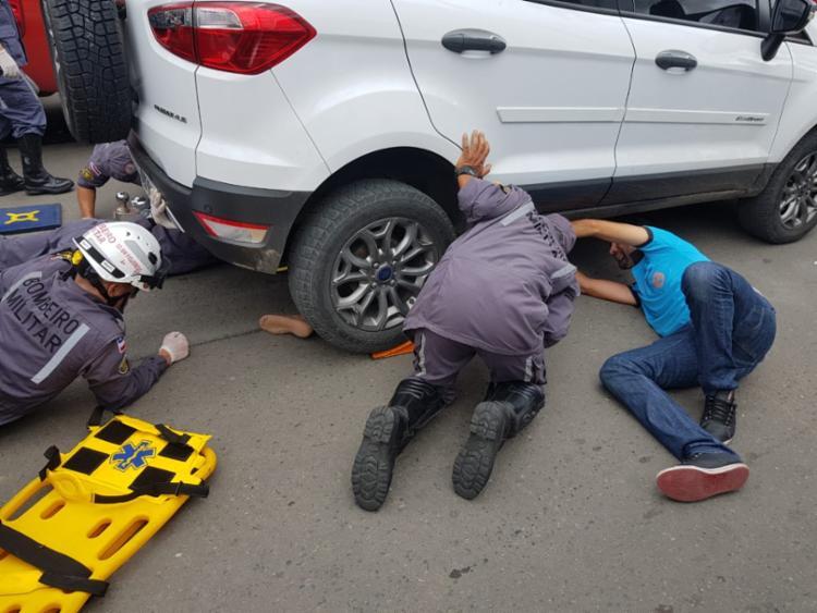 Vítima conduzia uma moto quando colidiu com o carro - Foto: Divulgação | CBMBA