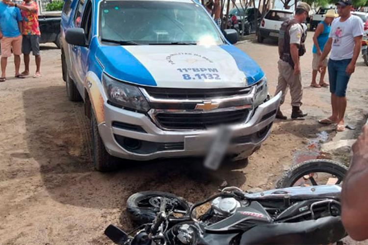Motorista de viatura teria perdido o controle do veículo - Foto: Reprodução | Bahia10