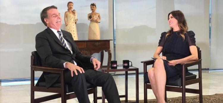 Declarações de Bolsonaro foram dadas durante o programa da apresentadora Luciana Gimenez - Foto: Reprodução | Rede TV