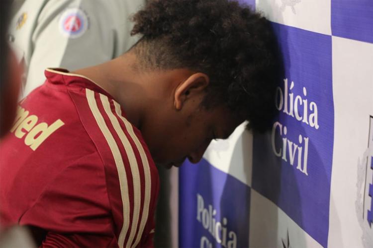 José Lucas Santos tem 21 anos e disse que agiu sozinho - Foto: Alberto Maraux l SSP-BA