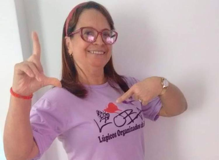 Lucia D'Ajuda apresenta sintomas desde 1979, mas foi diagnosticada em 2001 | Foto: Arquivo Pessoal