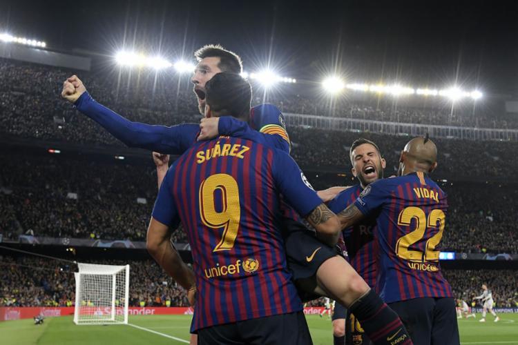 Equipe catalã abriu larga vantagem nas semifinais da Liga dos Campeões - Foto: Lluis Gene l AFP