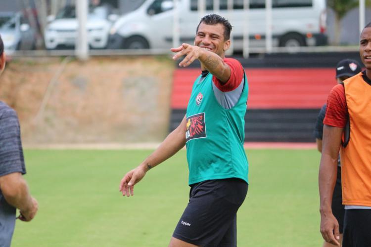 Neto Baiano terá mais uma chance de acabar com o jejum de gols na temporada - Foto: Divulgação l EC Vitória