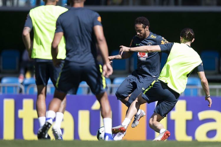 Neymar participou de treinamento da seleção brasileira em Teresópolis - Foto: Lucas Figueiredo l CBF