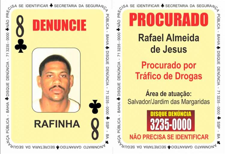 Rafael Almeida de Jesus, também conhecido como 'Rafinha', foi localizado escondido em um imóvel - Foto: Divulgação | SSP