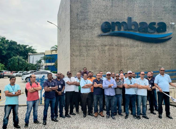 Protesto acontece por conta da redução dos salários dos funcionários - Foto: Divulgação   Sintracap