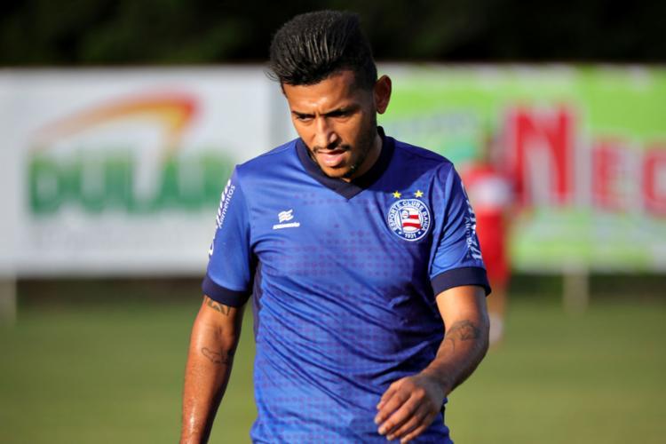 Rogério tem grandes chances de iniciar o jogo como titular - Foto: Felipe Oliveira l EC Bahia