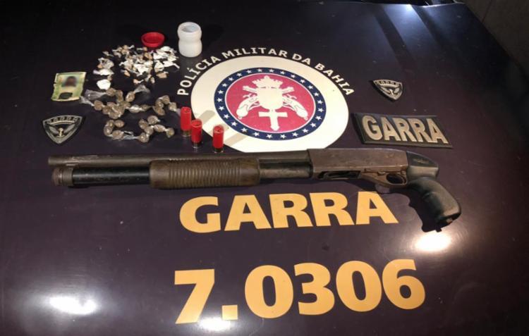 Materiais foram encontrados com o adolescente - Foto: Divulgação | SSP-BA