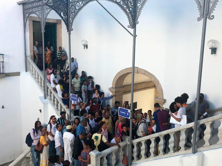 Parte do público foi impedido de acompanhar a votação - Foto: Roberto Aguiar | Ag. A TARDE