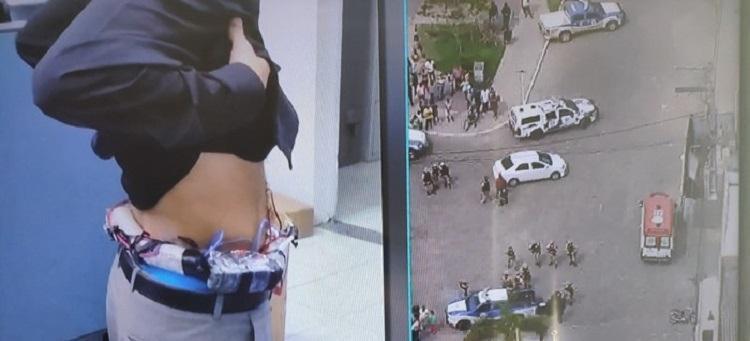 Explosivos foram desarmados pelo Esquadrão Antibomba do BOPE - Foto: Reprodução | TV Record