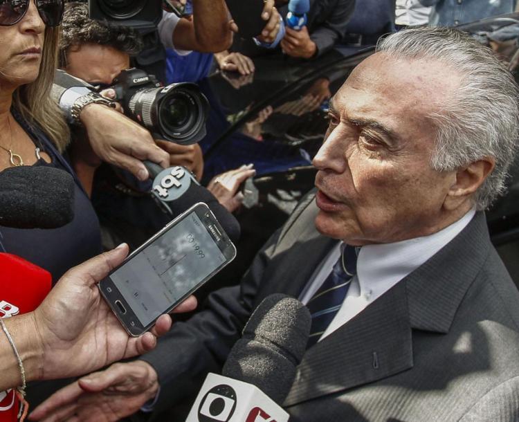 Ex-presidente Temer estava preso preventivamente por suspeita de desvios de recursos na obra da usina nuclear de Angra 3, no Rio de Janeiro - Foto: Miguel Scincariol l AFP