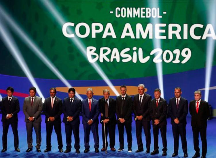 Treinadores das seleções participam de sorteio dos grupos da Copa América Brasil 2019 - Foto: Fernando Frazão | Agência Brasil
