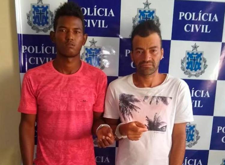 Manoel e Rogério estão custodiados na sede da delegacia local - Foto: Divulgação | Polícia Civil