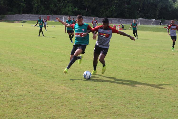Elenco do Rubro-Negro treinou forte na manhã desta terça-feira, 21 - Foto: Divulgação l EC Vitória