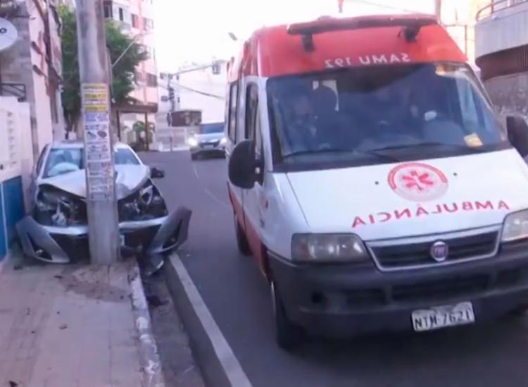 Uma unidade do Samu prestou atendimento no local - Foto: Reprodução | TV Bahia