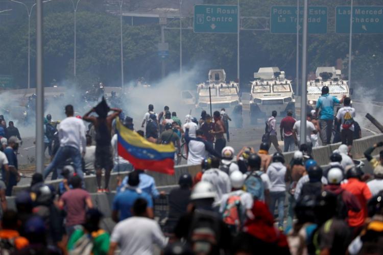 O presidente autoproclamado da Venezuela, Juan Guaidó, publicouuma mensagem convocando os opositores de Nicolás Maduro a irem às ruas novamente - Foto: Agência Brasil | Reprodução
