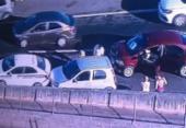 Três carros se envolvem em engavetamento na BR 324 | Foto: Reprodução | TV Record