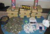 Maconha e cocaína são apreendidas em Feira de Santana | Foto: Divulgação | SSP