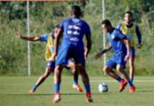 Roger Machado comanda treino com bola no Fazendão | Foto: Felipe Oliveira | EC Bahia