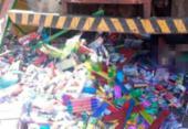 Uma pessoa morre e duas ficam feridas após caminhão invadir barraca em Muritiba | Foto: Reprodução | Blog do Valente