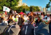 Marcha contra reforma da Previdência reúne centenas no centro de Salvador | Foto: Raul Aguilar