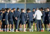 Tite veta Fernandinho e afirma que Allan será titular do Brasil contra o Paraguai | Foto: Raul Arboleda l AFP