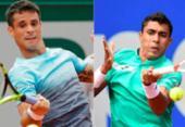 Thiago Monteiro e Rogério Dutra Silva vencem e avançam no quali de Wimbledon | Foto: Christof Stache e Thomas Samson | AFP