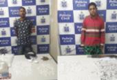 Jovens são presos suspeitos de tráfico de drogas em Camaçari | Foto: Divulgação | Polícia Civil
