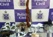 Preso falso educador físico com drogas e anabolizantes | Divulgação | Polícia Civil