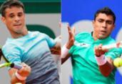 Brasileiros vencem e avançam no quali de Wimbledon | Christof Stache e Thomas Samson | AFP