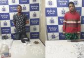 Jovens são presos suspeitos de tráfico de drogas na RMS | Divulgação | Polícia Civil