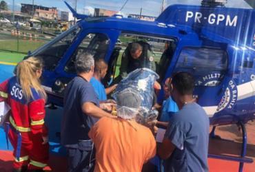 Casal de idosos é resgatado pelo Graer após colisão na BA-093 | Divulgação | SSP-BA