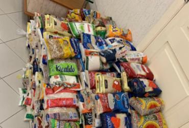 Base comunitária repassará 500 kg de alimentos para Campanha do Agasalho | Divulgação | SSP