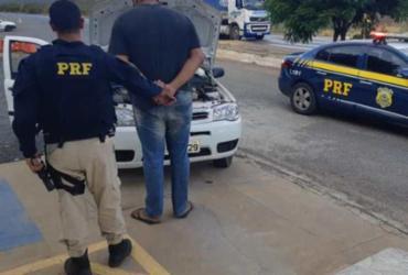 Homem com carro roubado é preso pela segunda vez em menos de 3 meses | Divulgação | PRF