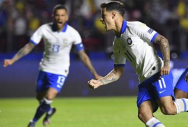 Coutinho marca duas vezes e comanda vitória do Brasil sobre a Bolívia na estreia | AFP