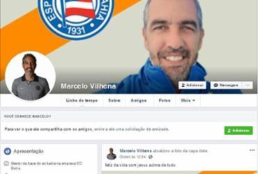 Gerente da base do Bahia denuncia perfil falso utilizado para aplicar golpes   Reprodução