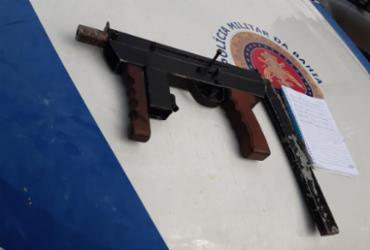 Homem é preso com submetralhadora e drogas em Feira de Santana | Divulgação | SSP