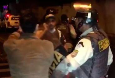 Espadeiros e PMs entram em confronto na cidade de Senhor do Bonfim | Reprodução | TV Bahia