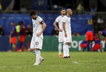 Único destaque argentino na estreia, Messi crê em reação: 'Grupo está preparado' | Uendel Galter l Ag. A TARDE