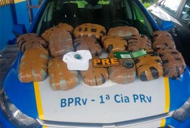 Dois homens são presos por transporte de drogas na Estrada do Coco | Divulgação | PM-BA