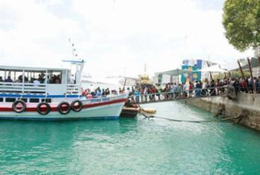 Travessia Salvador-Mar Grande se encerra mais cedo neste domingo | Luciano Carcará | Ag. A TARDE